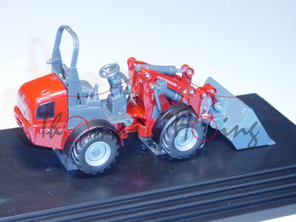00401 WEIDEMANN 1770 CX50 Hoftrac mit ROPS-Überrollbügel (Modell 2009-2012), rubinrotmetallic/eiseng