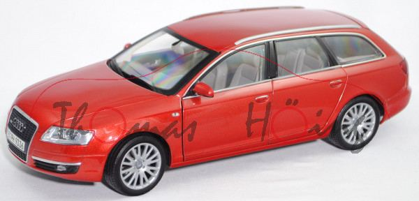 Audi A6 Avant 3.2 FSI quattro (C6, Typ 4F, Mod. 2005-2008), canyonrot perleffekt, Norev, 1:18, mb