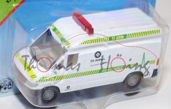 80400 Mercedes-Benz Sprinter (T1N, Baureihe W 901) Kastenwagen Krankenwagen, Modell 1995-2000, reinw