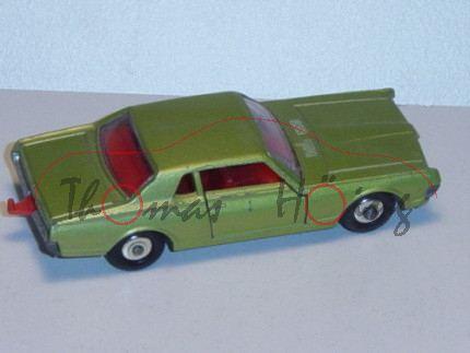 Mercury Cougar, hell-gelbgrünmetallic, Vordertüren zu öffnen, mit Anhängerkupplung, Matchbox Series