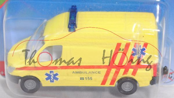 06101 CZ Mercedes-Benz Sprinter II (NCV 3, W 906, Mod. 06-13) Ambulance, gelb, AMBULANCE/C 155, P29e