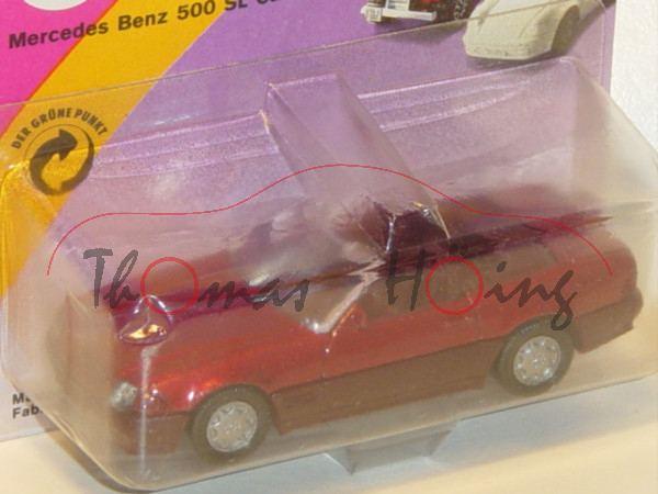 00000 Mercedes-Benz 500 SL (R 129, Baumuster 119.960, Mod. 89-92), purpurrotmetallic, innen + Lenkra