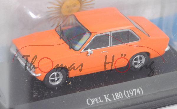 Opel K 180 (Modell 1974-1978) vgl. Opel Kadett C, hellrotorange, EDITION ATLAS, 1:43, Hauben-Blister