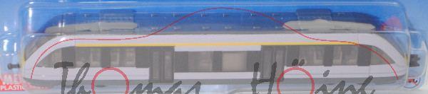 00701 IE Nahverkehrszug (vgl. Alstom Coradia LINT 27, Mod. 99-), grauviolett, Kupplung mit Führungen
