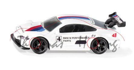 00000 BMW M4 Racing 2016, weiß, BMW M PERFORMANCE / PARTS / 4, B49 schwarz, P29e ab 9/20 da