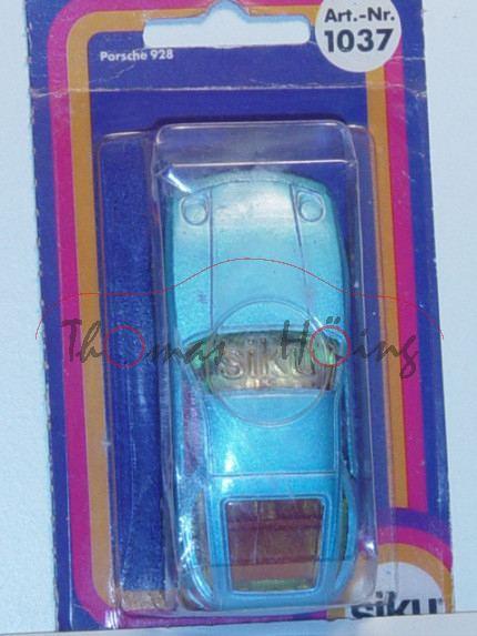 Porsche 928, Modell 1977-1982, lichtblaumetallic, Verglasung gelb, B4, P17 (s/w)