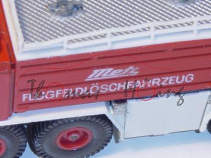 Metz-Flugfeldlöschfahrzeug, verkehrsrot/weiß, Metz FLUGFELDLÖSCHFAHRZEUG, IE weiß, Lenkrad integrier