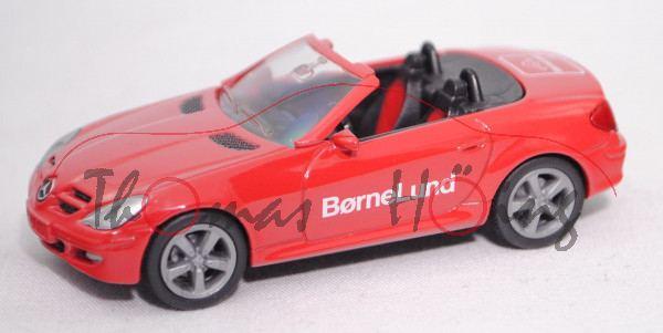 Mercedes-Benz SLK 350 (R 171, Mod. 04-08), rot, BørneLund, Werbeschachtel (Limited Edition)