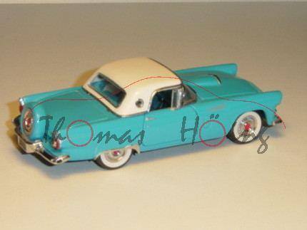 Ford Thunderbird Convertible Hardtop 1956, türkisblau/cremeweiß, Türen und Motorhaube zu öffnen, Har