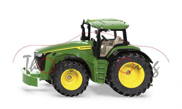 00000 John Deere 8R 370 (Modell 2019-), smaragdgrün, SIKU FARMER 1:32, L17mpK (ab 09/21 da)