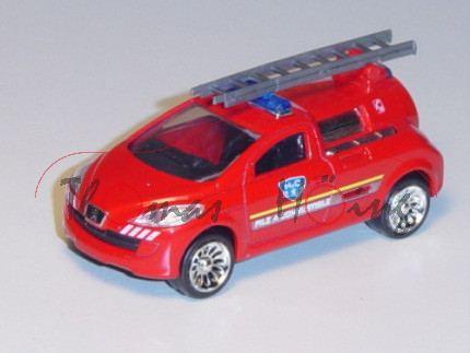 Peugeot H²O Fuel Cell, verkehrsrot, PILE A COMBUSTIBL / C18, mit abnehmbarer Leiter, Felgen chrom, 1