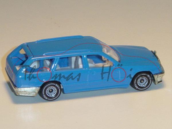 Mercedes-Benz 300 TE (Baureihe S 124), Modell 1985-1986, himmelblau, innen weiß, Lenkrad weiß, Mitte
