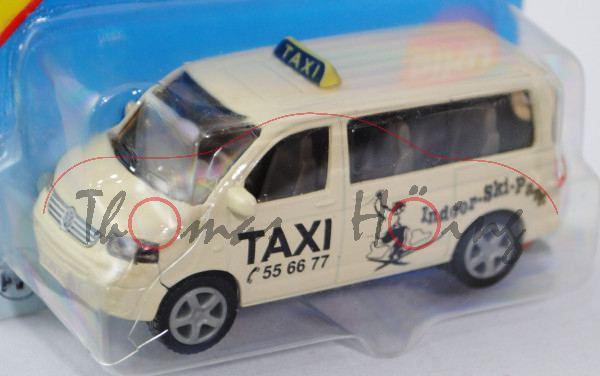 00002 VW T5 Multivan (Modell 2003-2009) Großraumtaxi, hellelfenbein, innen verkehrsgrau, Lenkrad ver