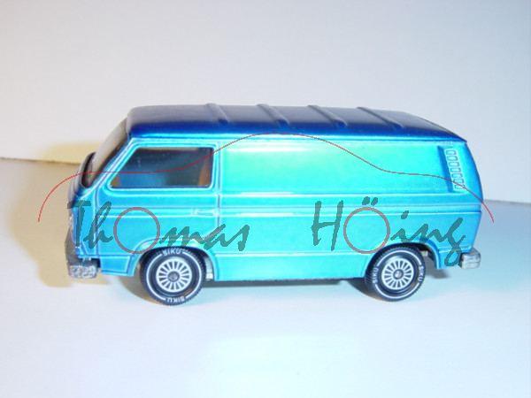 00001 VW Transporter 2,0 Liter (Typ T3, Modell 1979-1982), himmelblaumetallic, innen gelb, Lenkrad i