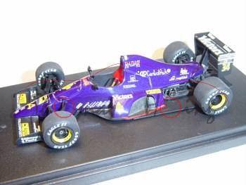 Lamborghini 291 F1, US Grand Prix 1991, dunkelblau, Look Smart (Handarbeitsmodell), 1:43, mb