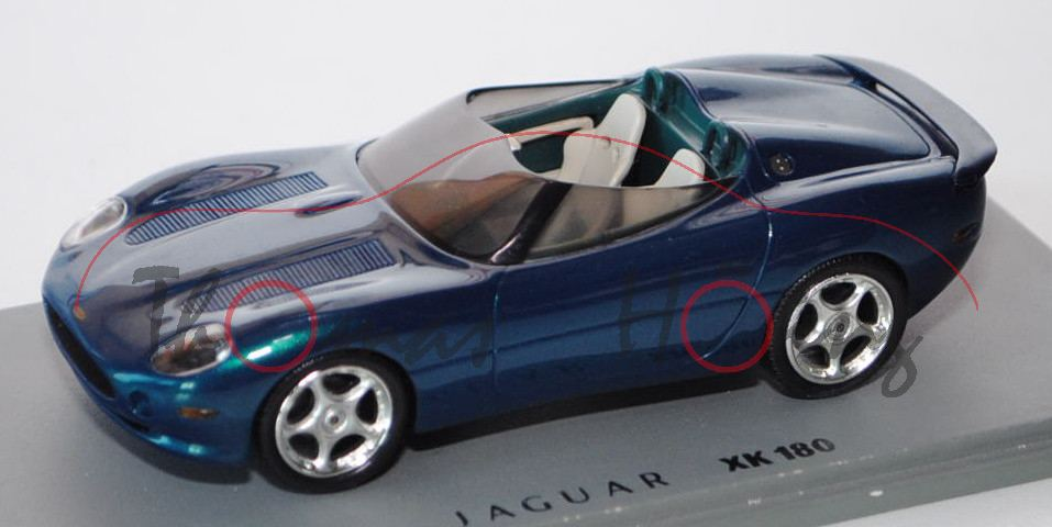 Jaguar XK 180 Concept Car, Modell 1998, blaugrünmetallic, Präsentation: Paris Motor Show 1998 ...