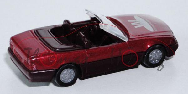 Mercedes-Benz 500 SL (R 129, Baumuster 129.066, Mod. 89-92), purpurrotmetallic, MB-Stern vorne + Sch