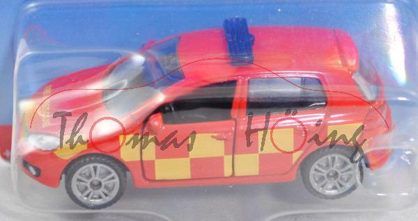 00600 GB VW Golf VI 2.0 TDI (Typ 1K, Modell 2008-2012) Firefighter Car, rot, FIRE & RESCUE, P29e