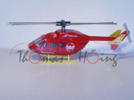 80400 Hubschrauber BK 117, verkehrsrot/kadmiumgelb,WestpacTrust / AIR AMBULANCE / RESCUE, L14n, Neus