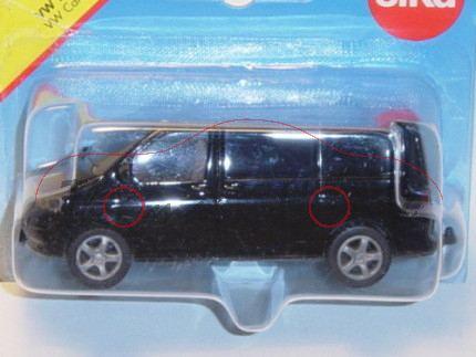 VW T5 Transporter, Modell 2003-2009, schwarz, P28