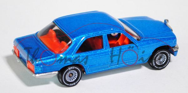 Mercedes 500 SE (Baureihe W 126), Modell 1979-1981, d.-blaumetallic, Verglasung rauch, B4