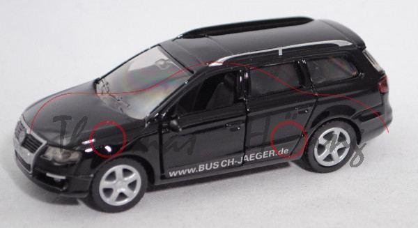 VW Passat Variant 2.0 FSI (B6, Typ 3C, Mod. 2005-2010), schwarz, www.BUSCH-JAEGER.de, Werbeschachtel