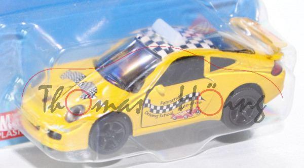 00000 Porsche 911 Carrera S (Typ 997) Fahrschule, Modell 2004-2008, kadmiumgelb, Fahrschule / Drivin