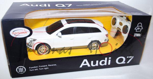 Audi Q7, Mj 05, perlmuttweißmetallic, mit Fernsteuerung, RASTAR, 1:24, mb