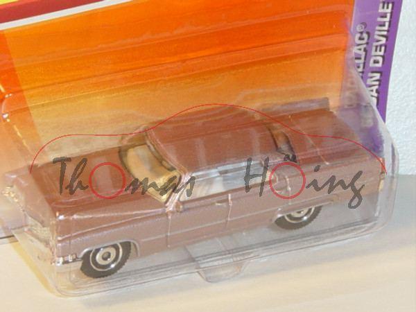 Cadillac® Sedan Deville, Mj. 1969, hellrosametallic, Matchbox, 1:75, Blister