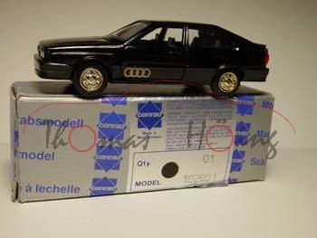 Audi Quattro, schwarz, Conrad, 1:43, Lack vom rechten hinteren Kotflügel aufgerauht (durch falsche L