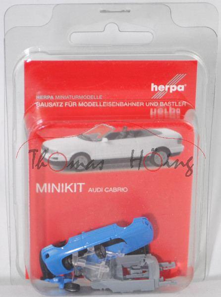 Audi Cabriolet (B4, Typ 8G, Modell 1991-2000), himmelblau, Herpa, MINIKIT, 1:87, mb