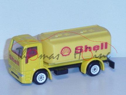 Ford Cargo 0811 (Modell 1982-1996) Tankwagen, kadmiumgelb, innen karminrot, Lenkrad integriert, Shel