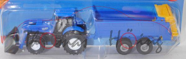 00701 IE New Holland T8.390 mit Frontlader und Strautmann Universalstreuer, blau+blau/gelb, P29e