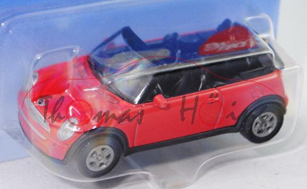 00000 Mini Cooper Cabrio (Typ R52, Modell 2004-2008), dunkel-verkehrsrot, innen schwarz, Lenkrad sch