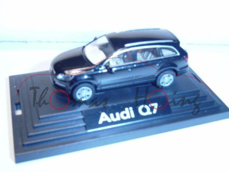 Audi Q7, Mj 05, phantomschwarz, Wiking, 1:87, PC-Box