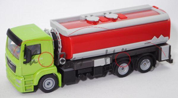 00401 MAN TGS 26.440 (Mod. 13-) Tankwagen (Typ ESTERER), bl.-gelbgrün/schwarz, o.K., L17mpK Limited