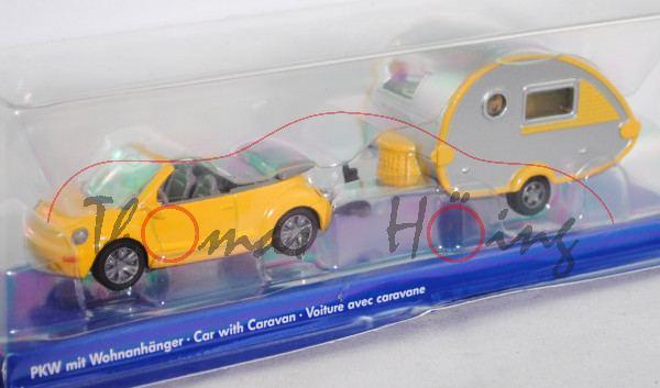 00001 VW New Beetle Cabrio 2.0 (Typ 1Y, Mod. 03-05) mit Wohnanhänger Knaus Tabbert T@B 320 RS (Mod.