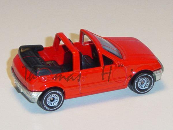 00000 Peugeot 205 CTI 1.6 Cabriolet (Modell 1986-1989), verkehrsrot, innen schwarz, Lenkrad schwarz,