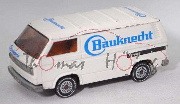 VW Transporter 2,0 Liter (Typ 2-Mod. '80 T3, Modell 1979-1982), cremeweiß, Bauknecht, Farbabplatzer