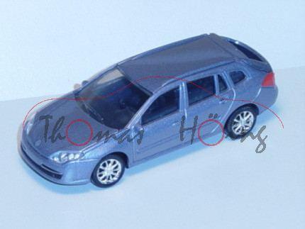 Renault Laguna 2007, blausilbermetallic, 1:50, Norev SHOWROOM, mb