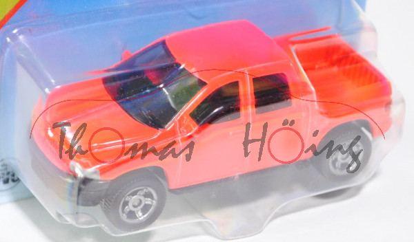 00002 SIKU Mounty (vgl. Dodge RAM 1500 Quad Cap, Modell 2006-2009), tagesleuchtfarbe, innen schwarz,