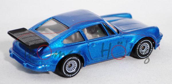 00002 Porsche 911 Turbo 3,3 (G-Modell Typ 930, Modell 1978-1989), verkehrsblaumetallic, innen reinwe