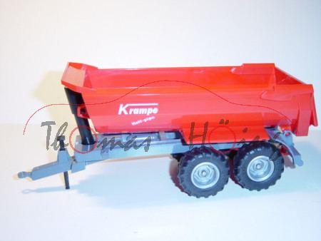 Halfepipe-Muldenkipper, rot/grau, Krampe, L17