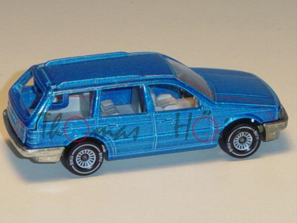 00001 VW Passat Variant (B3, Typ 35i, Modell 1988-1993), dunkel-himmelblaumetallic, innen lichtgrau,