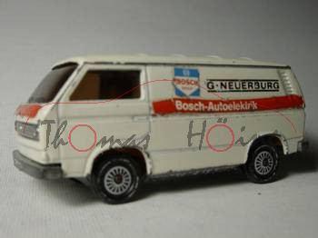 VW Transporter 2,0 Liter (Typ T3), Modell 1979-1982, weiß, Bosch-Autoelektrik G. NEUERBURG, Modell v