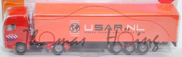00301 NL MAN TG460A XXL mit Koffer-Sattelauflieger (Koffer-Sattelzug), rot/schwarz, BRANDWEER / USAR