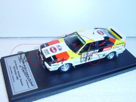 Audi Quattro, weiß, RAC 1982, Demuth/Daniels, Nr. 24, Scala 43, limitiert auf 250 Stück, 1:43, mb