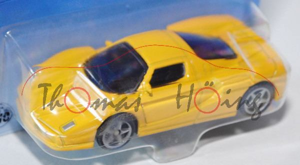 00000 SIKU Sport 2 / SIKU SPIDER (vgl. Ferrari Enzo, Modell 2002-2004), signalgelb, innen schwarz, L