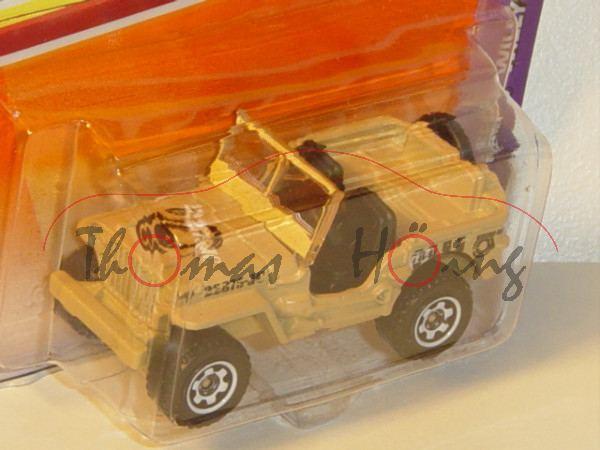 Jeep® Willys, Mj. 2009, beige, 22875-JC, Matchbox, 1:52, Blister