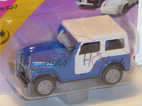 00010 Jeep CJ-7 2.5L (Modell 1980-1983) mit Softtop, enzianblaumetallic, innen schwarz, Lenkrad schw
